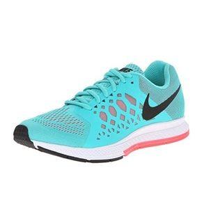 Nike Pegasus air zoom teal pink running shoes